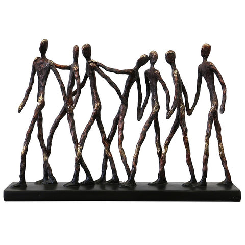 Abstract Family Camaraderie Decorative Showpiece Ornament