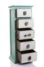 Shabby Chic Wooden Drawers Tall Boy