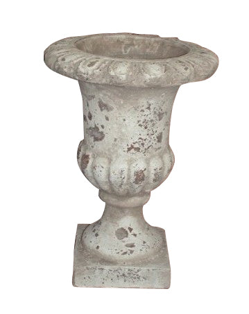 Grecian Tall Urn Terracotta Shabby Chic Indoor Or Outdoor Garden Ornament