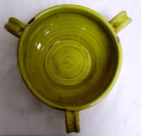 Mexican Handmade Ceramic Tripoli Bowl For Salads or Decoration (Lime)