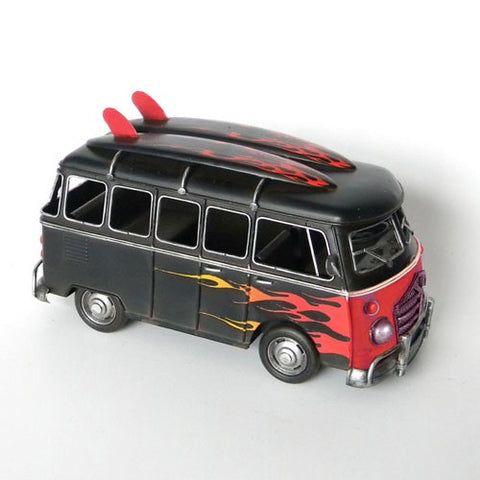 Vw Kombi Combi Van Flames Model Ornament Home Of Temptations