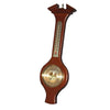 Large Barometer Rimu Tan Wood Wall Hanging With Thermometer & Ornate Internal Workings