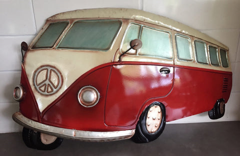 Vw Kombi Combi Van 3d Metal Wall Art Hanging Home Of Temptations
