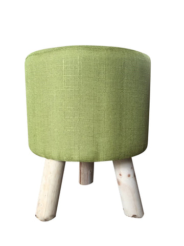 Textured Linen Foot Stool With Wooden Feet - Home of Temptations Interior Design Furniture Decor & Gifts http://www.hotdesign.co.nz