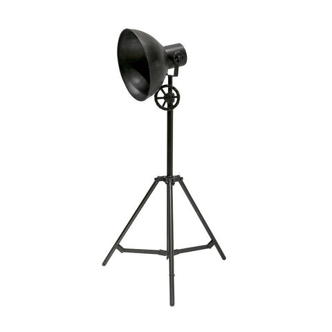 Chandri Tripod Industrial Chic Studio Light Style Floor Lamp Light - Black Rustic