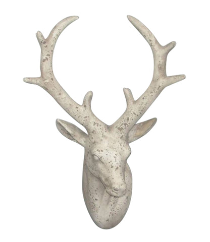 Terracotta Shabby Chic Stag Head Indoor Or Outdoor Garden Ornament