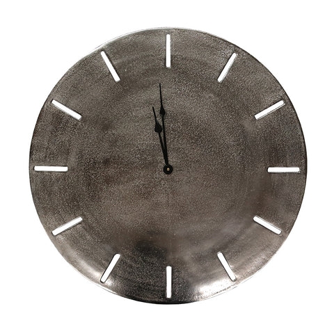 Aluminium Songo Nickel Clock Interior Design Decorative Showpiece