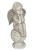 Terracotta Angel On Ball Shabby Chic Indoor Or Outdoor Garden Ornament