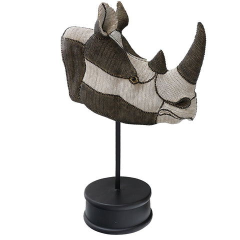 Taste of Africa Rhino On Stand Trophy Ornament