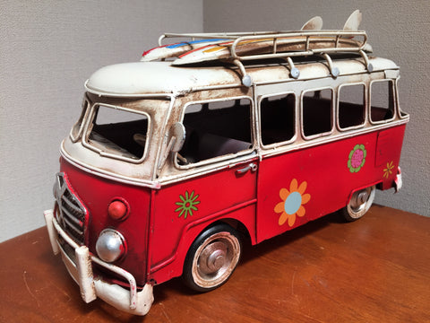 "VW Kombi Combi Van ""Beach Hippie"" Model Ornament"