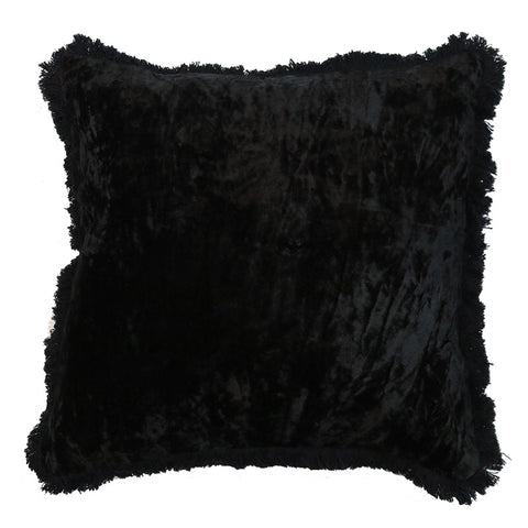 Vintage Black Grace Velvet Lounge / Chair Cushion 45cm