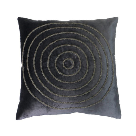 Chrissie Midnight Velvet Abstract Lounge / Chair Cushion 45cm