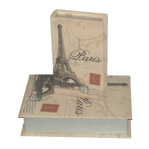 French Parisian Eiffel Tower Fabric Storage Boxes