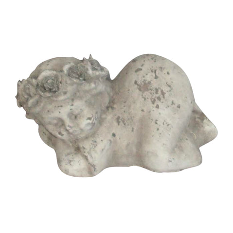 Terracotta Sleeping Cherub Shabby Chic Indoor Or Outdoor Garden Ornament