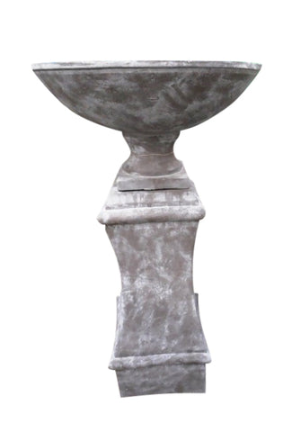 Grand Entrance Garden Bowl & Pedestal Urn Plinth XL