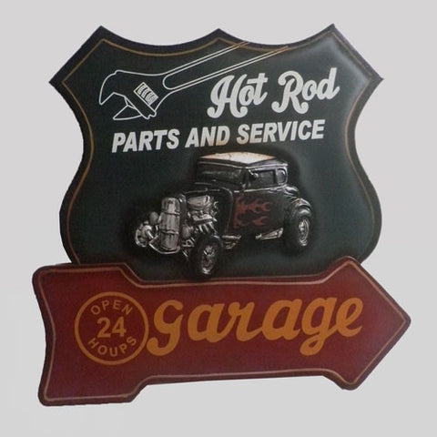 Hot Rod Garage & Man Cave Wall Ornament Hanging