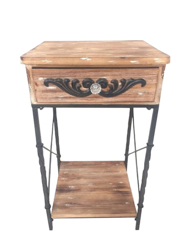 French Country Chic Hall Table / Bedside Table Provincial