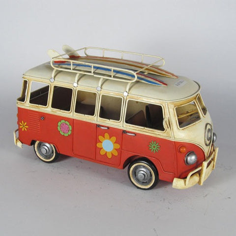 "VW Kombi Combi Van ""Beach Hippie"" Model Ornament - Home of Temptations Interior Design Furniture Decor & Gifts http://www.hotdesign.co.nz"