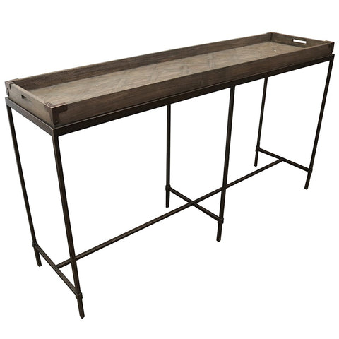 Bogotá Motif Modern Geometric Interior Design Console Table / Hall Table