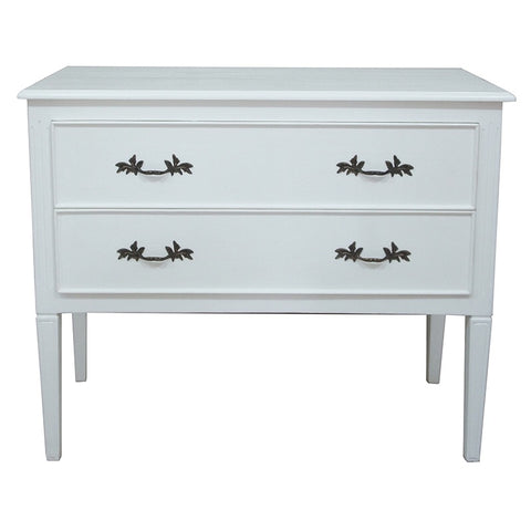 Ashwell French Country Chic White Commode