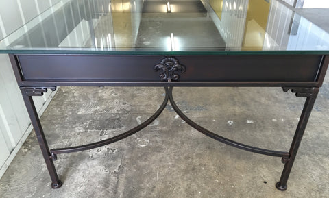 French Country Villa Coffee Table Iron Fleur De Lys