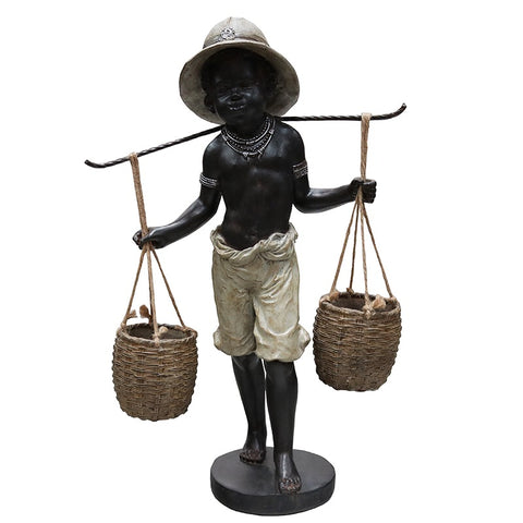 African Boy Cultural Decorative Showpiece Ornament