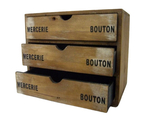 Bouton Wooden Shabby Chic Office Perfect Storage Drawers