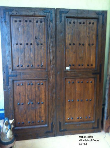 Exterior Rustic Front Doors (Or Interior Doors) Authetic Mexican Wood & Hand Forged Iron