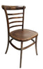 European Ladder Back Style Elmwood Dining Chair - Golden Brown