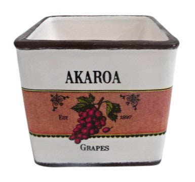 Moana Road Ceramic Pot Akaroa Grapes Taste of New Zealand