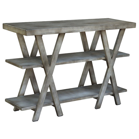 Manyara Three Tier Shelving Unit / Console Table / Hall Table - Country Chic