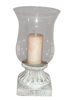 Hurricane Lamp / Lantern Terracotta Shabby Chic Indoor Or Outdoor Garden Ornament - Home of Temptations Interior Design Furniture Decor & Gifts http://www.hotdesign.co.nz