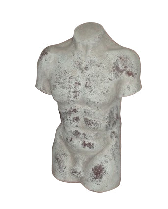 Male Torso Terracotta Shabby Chic Indoor Or Outdoor Garden Ornament