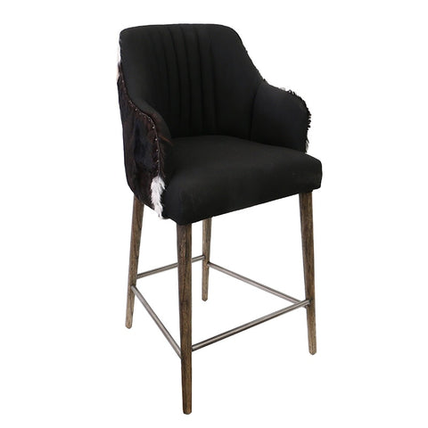 Ademar Black & White Goat Bar Stool Barstool