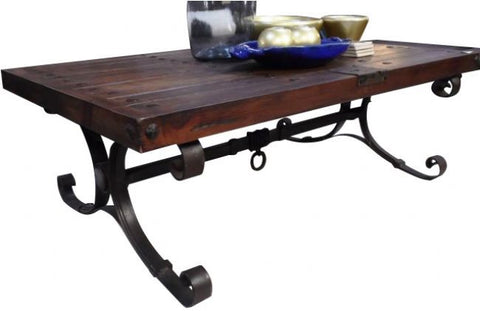 Hand Forged Iron & Reclaimed Wood Talamantes Coffee Table