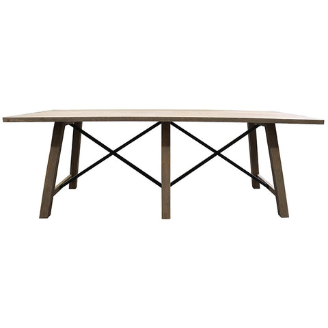 Castleford Oak & Iron Dining Table - Modern Chic