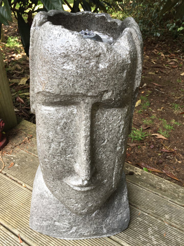 Easter Island Head Water Fountain With LED Light