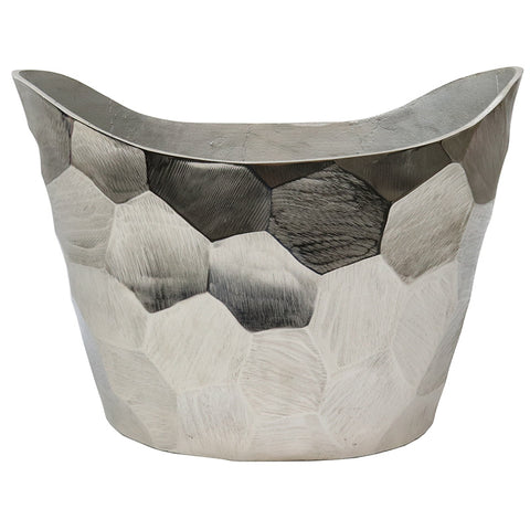 Aluminium Chisel Oval Wine Cooler Tub Rustic Chic - Great Gift / Home Décor