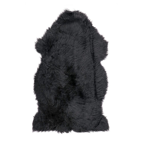 Sheepskin Floor Rug Black - Comfort & Texture to Armchairs, Sofas & Benches
