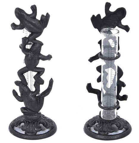 Cast Iron Dancing Frogs Rain Gauge - Home of Temptations Interior Design Furniture Decor & Gifts http://www.hotdesign.co.nz