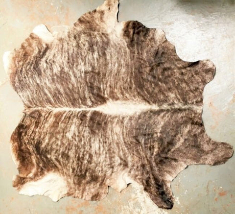 Cowhide Floor Rug Authentic Mexican - Three Different Chocolate Tan Options