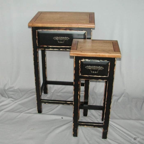 Villa Hall Table Shabby Chic Distressed Black Wood