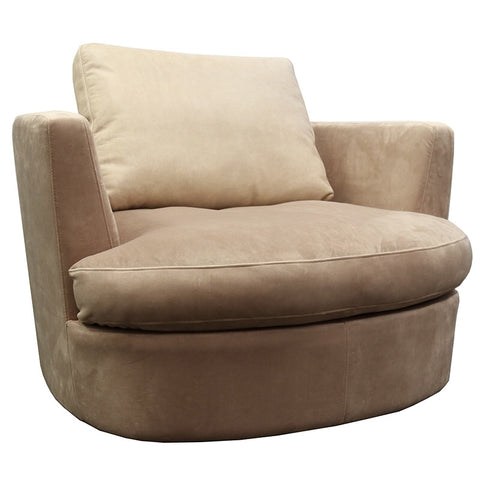 Amora Swivel Lounge Chair / Armchair Velvet & Leather