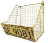 Car License Plate Storage Basket Metal Mesh Wall Unit