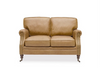 Brunswick Edwardian Leather Sofa / Lounge - Camel Colour