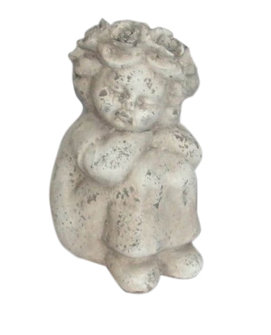 Terracotta Sitting Cherub Shabby Chic Indoor Or Outdoor Garden Ornament - Home of Temptations Interior Design Furniture Decor & Gifts http://www.hotdesign.co.nz