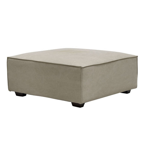 Felix Fabric Large Ottoman - Modern Hamptons Chic