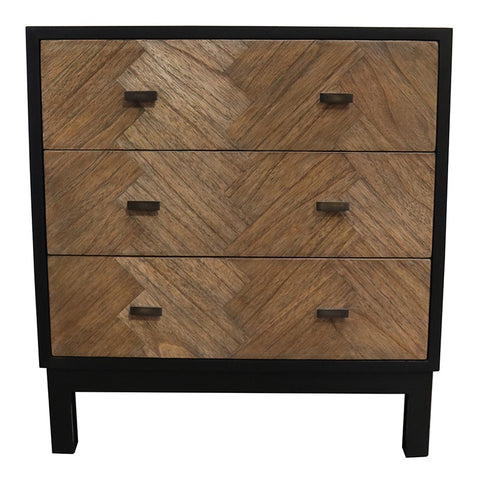 Arrowtown Modern Geometric Chic Bedside Table