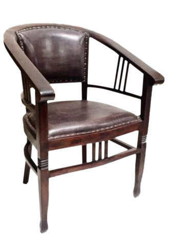 Hacienda Dining Chair / Occasional Chair Leather & Wood