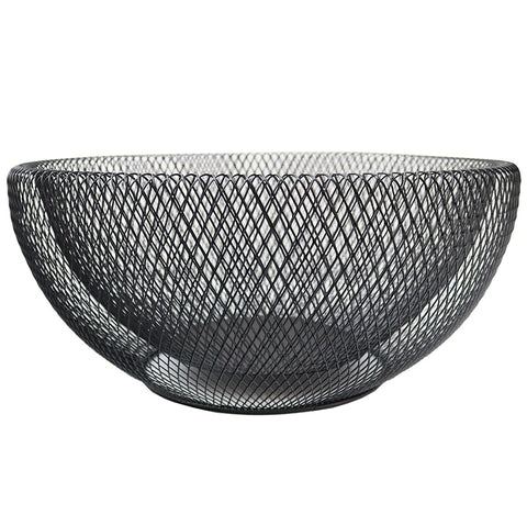 Geometric Black Iron Mesh Bowl 45cm Large